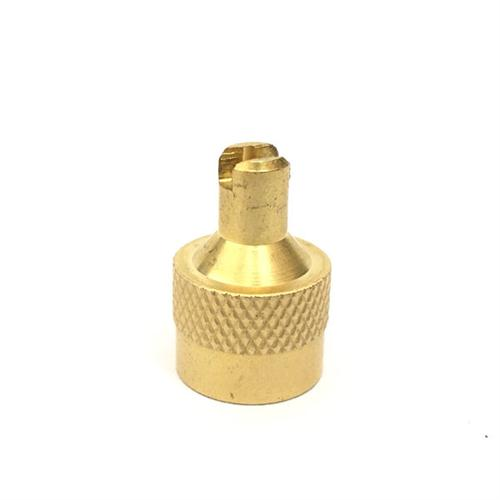 Metal Slotted Head Valve Stem Caps With Core Remover For Truck